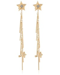 Roberto Cavalli Fringed Cuff Earrings With Star Stud