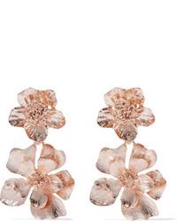Oscar de la Renta Rose Gold Plated Clip Earrings