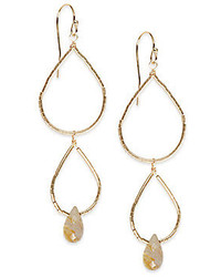 Rutilated Quartz Double Drop Beaded Earrings