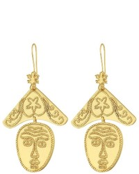 Tory Burch Sculptural Face Earrings Earring