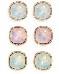 Set of 3 crystal earrings medium 1162240