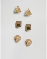 Glamorous Shape Stud Multipack Earrings