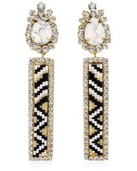 Shourouk Bastet Black Earrings