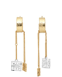 Givenchy Silver And Gold 4g Charm Earrings