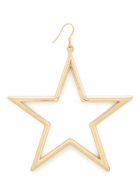 Kenneth Jay Lane Single Open Star Fishhook Earring