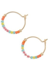 Topshop Small Seed Bead Hoop Earrings