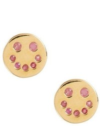 Marc Jacobs Smiley Face Stud Earrings