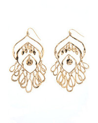 Lee Angel Solange Gold Chandelier Earrings