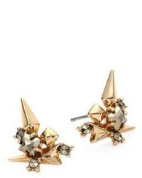 Alexis Bittar Spiked Crystal Cluster Stud Earrings