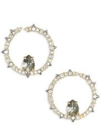 Alexis Bittar Spiked Crystal Pyrite Doublet Hoop Earrings12