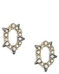 Alexis Bittar Spiked Crystal Stud Earrings