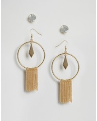 Glamorous Statet Tassel Stud Earrings