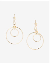 Express Status Knot Double Hoop Earrings