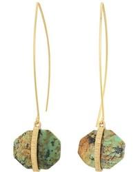 Lauren Ralph Lauren Stone With Textured Metal Drop Earrings Earring