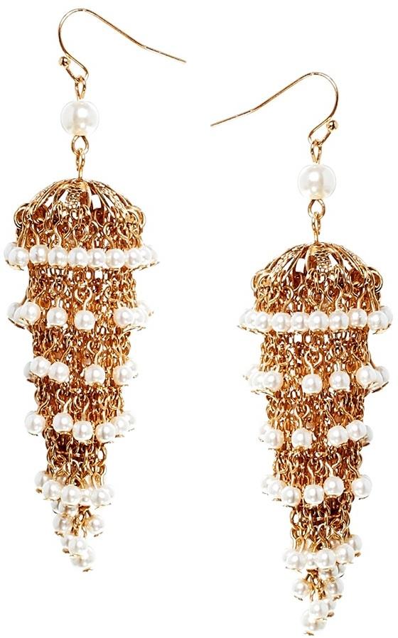 Talullah tu faux pearl statet chandelier earrings gold where to talullah tu faux pearl statet chandelier earrings gold aloadofball Image collections