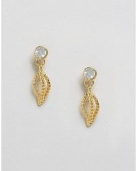 Ted Baker Rope Leaf Drop Earrings