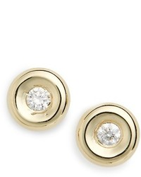Roberto Coin Tiny Treasures Diamond Stud Earrings