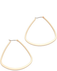 Kenneth Jay Lane Triangular Hoop Earrings