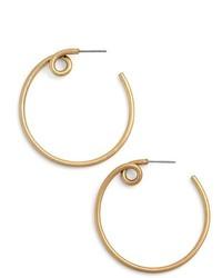 Marc Jacobs Twisted Hoop Earrings