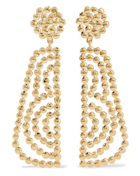 Chloé Valeria Lacquered Gold Tone Earrings