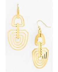 Vince Camuto Ethereal Statet Cutout Drop Earrings Brushed Gold