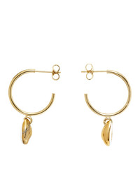 Isabel Marant White And Gold New Amer Earrings