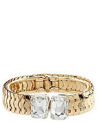 Anna Ava Rectangular Crystal Hinge Bracelet
