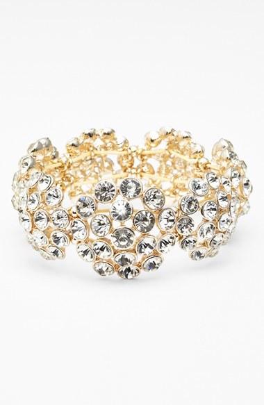 Anne Klein Crystal Cluster Stretch Bracelet