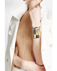 Alexis Bittar Embellished Gold Plated Cuff Bracelet