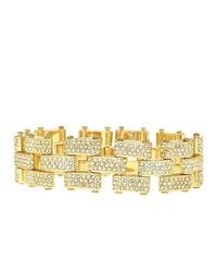 FINE JEWELRY Natasha Gold Tone Crystal Link Bracelet