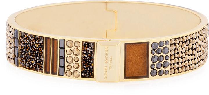 Henri Bendel Patchwork Crystal Rocks Bangle Bracelet Where To Buy
