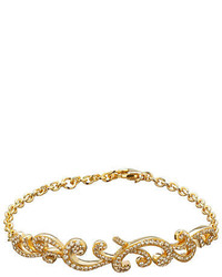 Lord & Taylor Golden Shadow Sterling Silver And Crystal Sculpted Bracelet