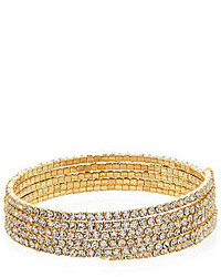 Cezanne Micro Crystal Coil Bracelet