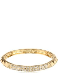 Kensie Naughty And Nice Gold Plated And Crystal Bangle Bracelet