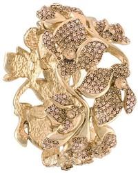 Oscar de la Renta Embellished Flower Bracelet