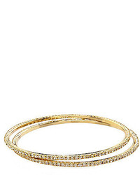 Cezanne Pave Rhinestone Bangle Set Of 2