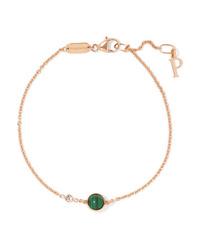 Piaget Possession 18 Karat Gold Malachite And Diamond Bracelet