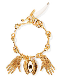 Chloé Sloan Gold Tone Enamel And Resin Bracelet