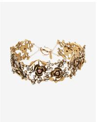 Express Embellished Rose Choker Necklace