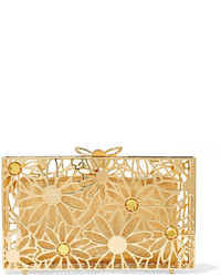 Pandora in bloom crystal embellished gold tone clutch one size medium 1191117