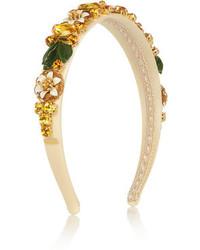 Dolce & Gabbana Swarovski Crystal Embellished Silk Headband