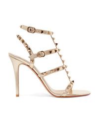 Valentino Garavani The Metallic Leather Sandals