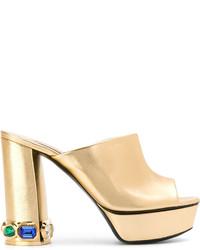 Casadei Embellished Heel Mules