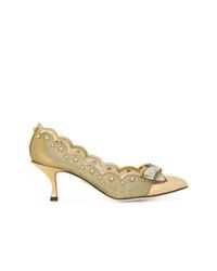 Dolce & Gabbana Pointed Toe Kitten Heel Pumps