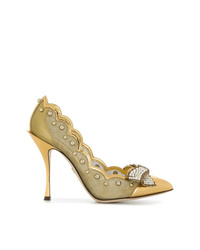 Dolce & Gabbana Scalloped Bow Pumps