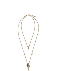 Alexander McQueen Gold Beetle Necklace