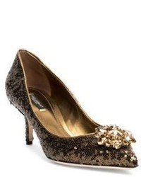 Crystal embellished paillette point toe pumps medium 1197520