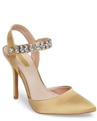 Embellished ankle strap pump medium 3943870