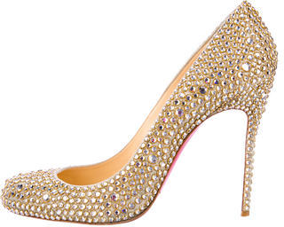 info for 6922f b0475 $1,395, Christian Louboutin Fifi Strass Pumps