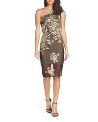 BRONX AND BANCO Golden Rose Sheath Dress